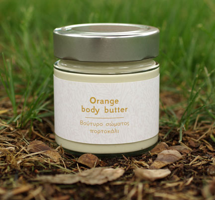 Orange body butter