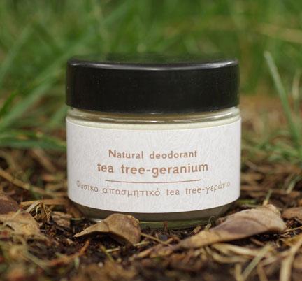 Tea Tree & Geranium deodorant